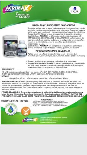 hidrolaca acrimax plastificante multiusos acrilico 1l