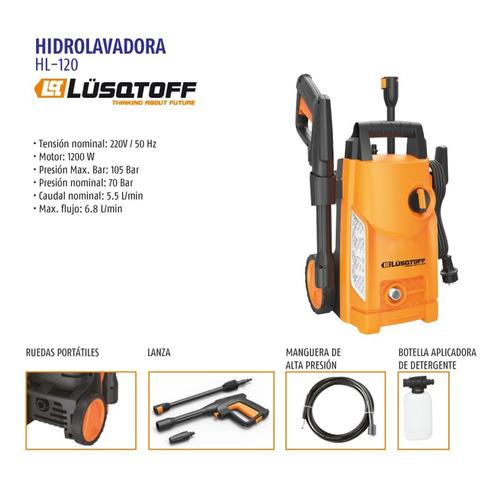 hidrolavadora 1200w 100 bar lusqtoff hl-120 + aspiradora mm