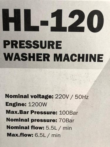 hidrolavadora 1200w 105bar auto stop hl120 lusqtoff