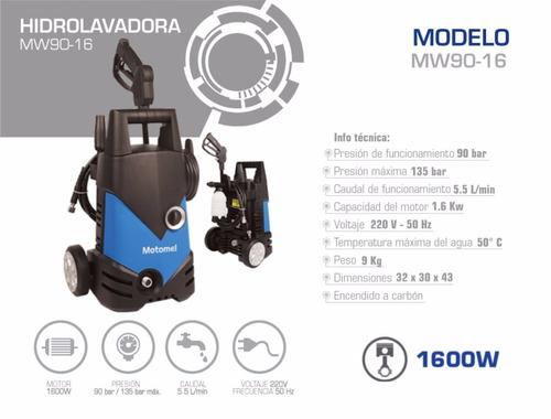 hidrolavadora 1600w motomel - tamburrino motos