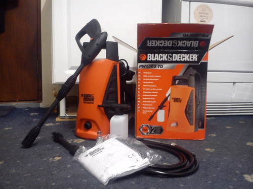 hidrolavadora black&decker 1300watts 1450psi 110v mod.pw1300