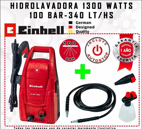 hidrolavadora einhell auto stop 1300 watts + accesorios