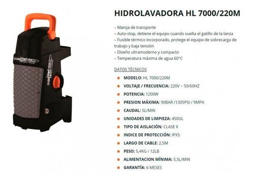 hidrolavadora gladiator hl7000  90 bar 1200w smg