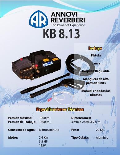 hidrolavadora hidroherramientas  annovi reverberi kb-8.13