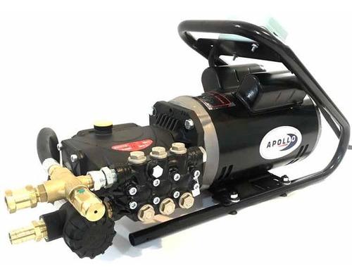 hidrolavadora industrial 1800 psi 110v uso rudo apollo 2 hp de alta presión bomba italiana y motor eléctrico 1750 rpm