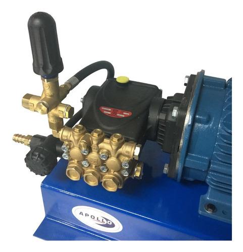 hidrolavadora industrial 2600 psi 5 hp 220 volts apollo 5 para autolavado con bomba interpump italiana biela cigüeñal
