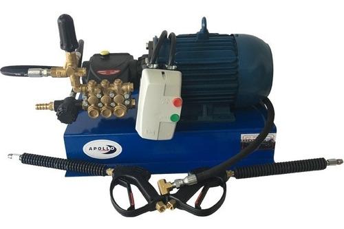hidrolavadora industrial 5hp 2600psi dos salidas para autolavado con protección eléctrica apollo 5 twin