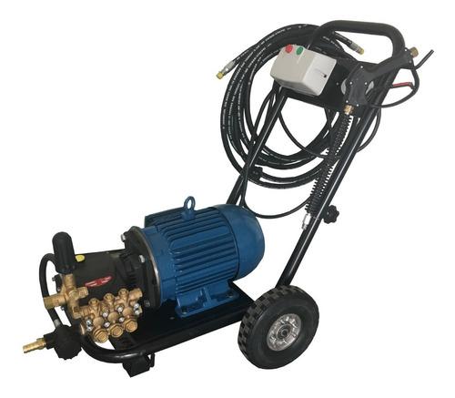 hidrolavadora industrial 7.5 hp 3200 psi en carrito uso rudo