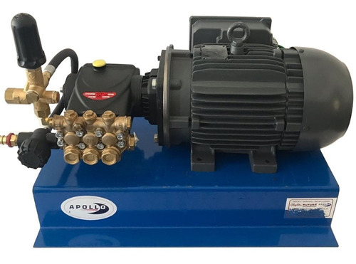 hidrolavadora industrial bifasica 5 hp 2600 psi de alta presión para autolavado con bomba interpump uso rudo y continuo
