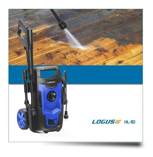 hidrolavadora logus 110bar 1400w autostop dosificador espuma