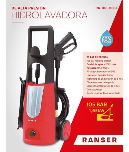 hidrolavadora ranser ra-hdl3650 1650w 105bar turbo nuevas