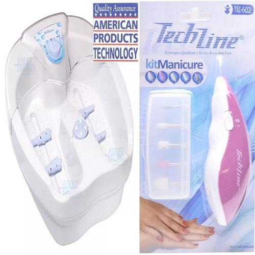 (hidromassageador + kit manicure) spá dos pés 110v
