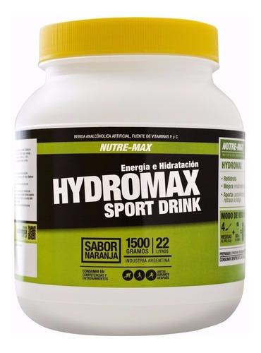 hidromax 1.5 kg nutremax sport drink energía e hidratación