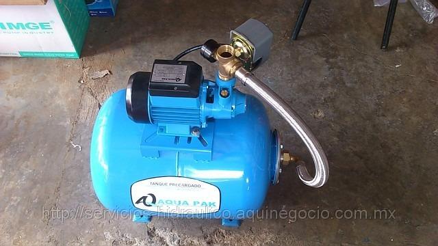 Hidroneumatico aquapak de 50 litros con bomba de 0 5 hp for Costo hidroneumatico