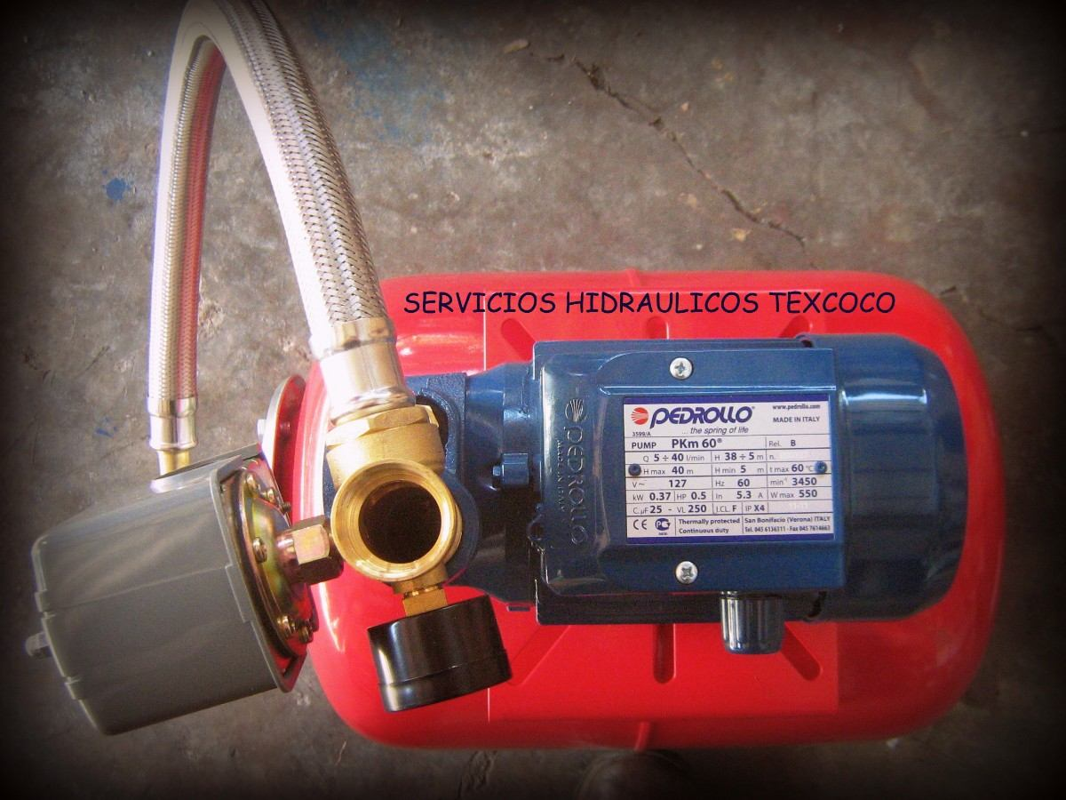 Hidroneumatico De 24 Lts Con Bomba Pedrollo Pkm60 De 0 5 H