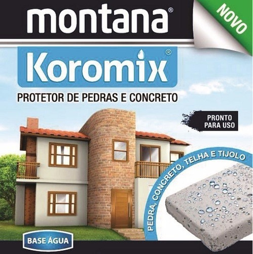 hidrorrepelente pedras,tijolo   base água koromix 5l