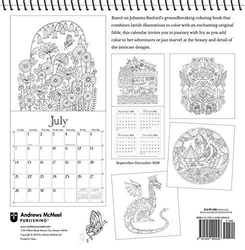 Calendario 2019 Para Colorear.Hiedra Y La Mariposa Inky 2019 Para Colorear Calendario De P