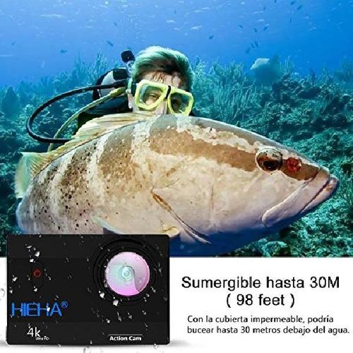 hieha action cam 4k 20mp 1080p hd wifi 98ft underwater sport