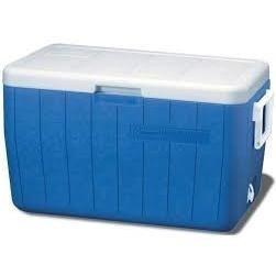 hielera 48 qt/ 45 l con agarraderas azul coleman 5248-718
