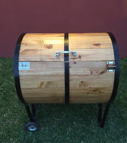 hielera ataúd modelo barril horno acero inox vbf