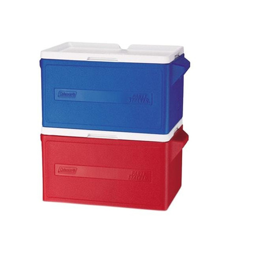 hielera azul party stacker 34 qt coleman 3000000480
