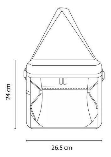 hielera bolsa interna impermeable y bolsa lateral de red