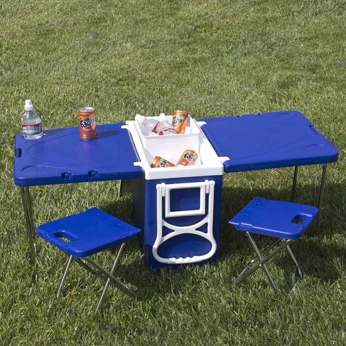 hielera con dos mesas y dos sillas 0504