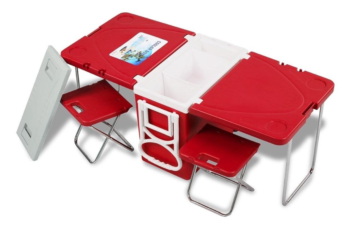 Plegable Con Mesa Portatil Hielera Camping Picnic Integrada uKJF5Tlc31