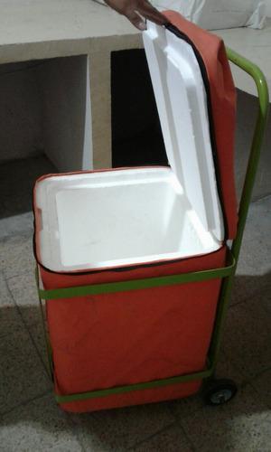 hielera (cooler) con carrito