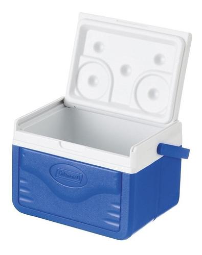 hielera de 5 qt con agarradera azul coleman m5205-758g