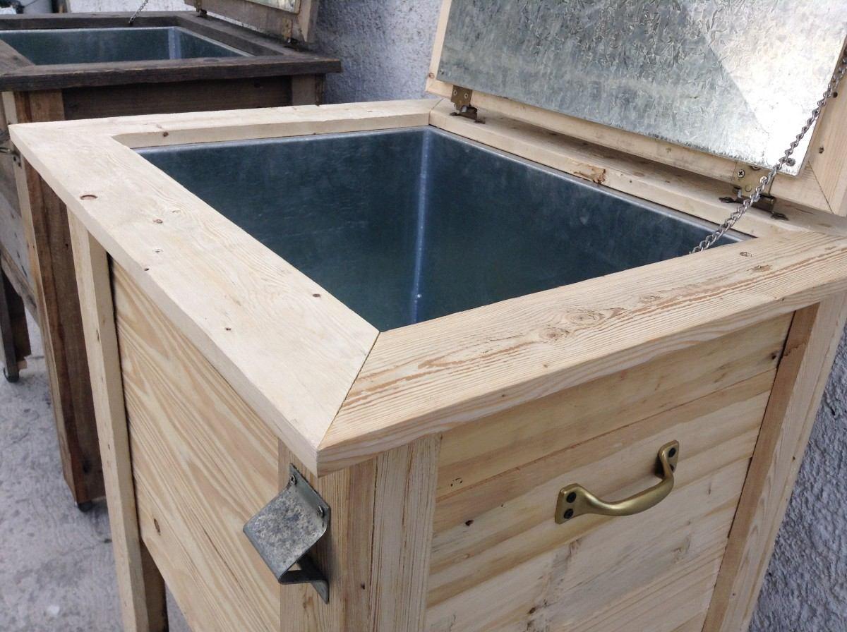 Hielera de madera de lamina galvanizada 2 en - Laminas de madera ...
