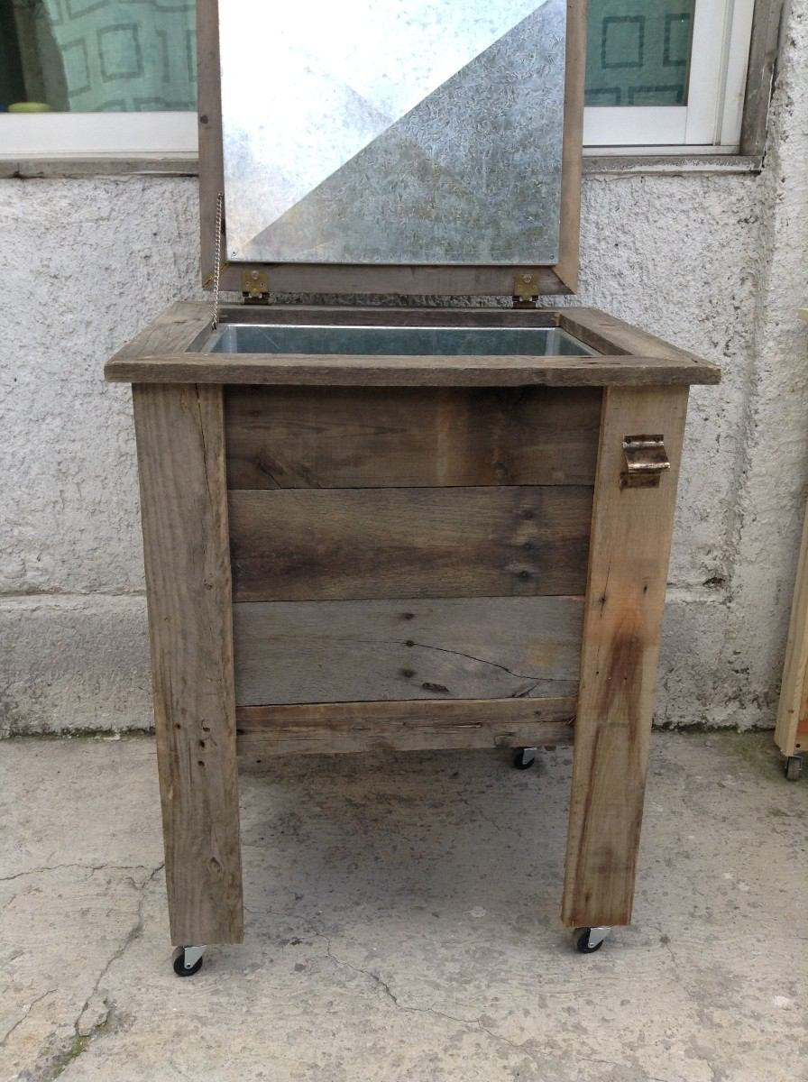 Hielera de madera reciclada lamina galvanizada 2 450 - Laminas de madera ...