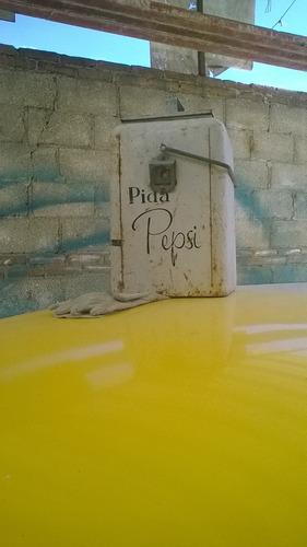 hielera de pepsi antigua con pintura original