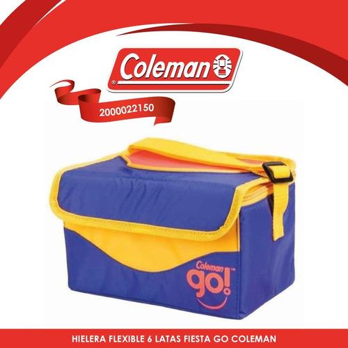 hielera flexible 6 latas fiesta azul go coleman 2000022150