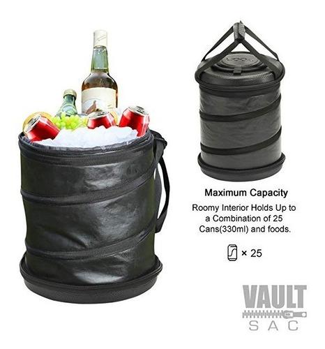 hielera forma de bolsa 25 latas/ 16lts waterproof color cafe