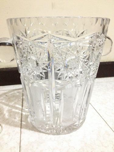 hielera hecha en cristal de bohemia