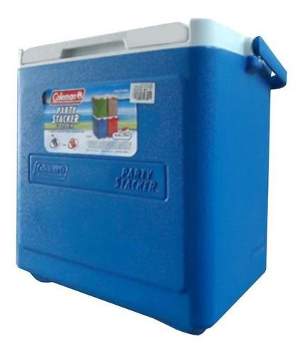 hielera party stacker 18 qt azul coleman 3000000485