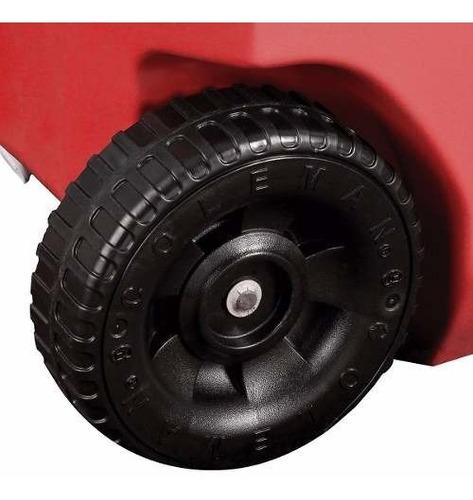 hielera roja de 16 qt con ruedas asa desplegable coleman