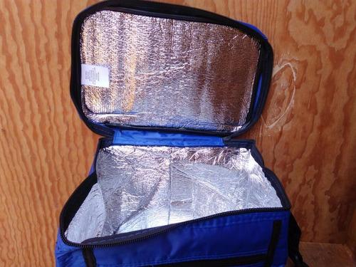 hielera y lonchera portable flexibe. tipo mochila