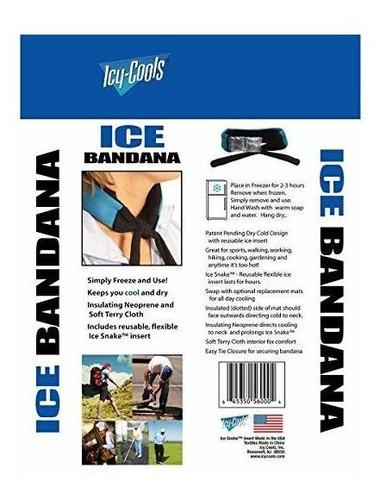 hielo frío refresca bandana