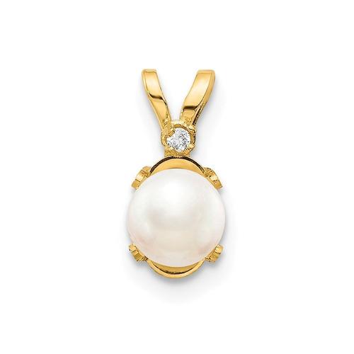 hielo quilates 14kt oro amarillo diamante de agua dulce, per