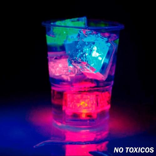 hielos luminosos led colores fiestas bebidas boda paquete 12