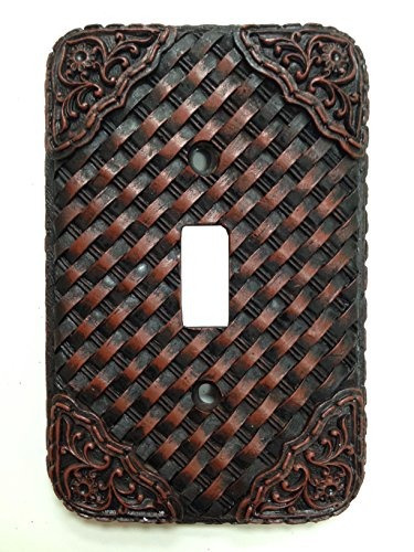 hiend acentos western tooled resin weaver switchplate con un