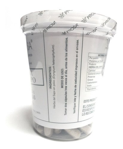 hierba del sapo 150 capsulas prosa (5 piezas) envio full