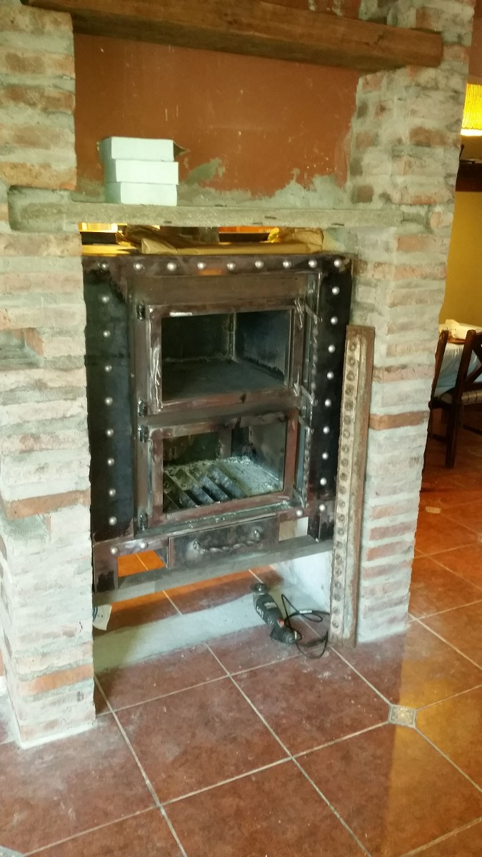 Estufas calefactores le a hierro aire forzado artesencalor - Estufas de hierro ...