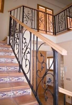 Hierro forjado para baranda y balcones bs - Escaleras hierro forjado ...