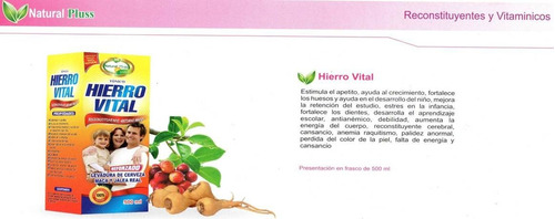 hierro vital  extracto 500ml 100% natural
