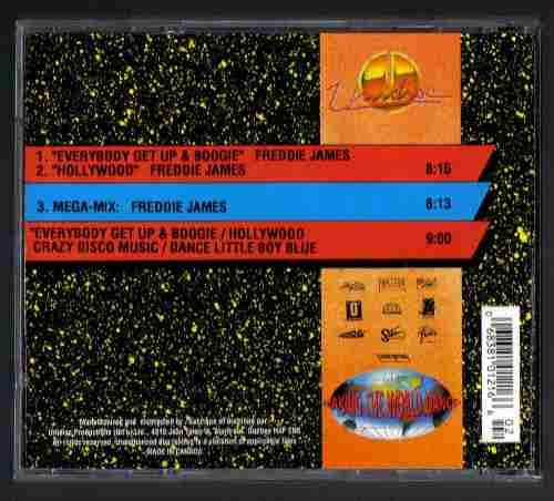 high energy freddie james everybody get up cd single importa