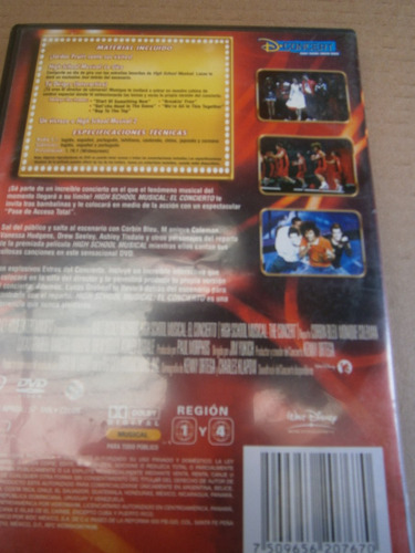 high school musical en concierto dvd reg. 4 vanessa hudgens