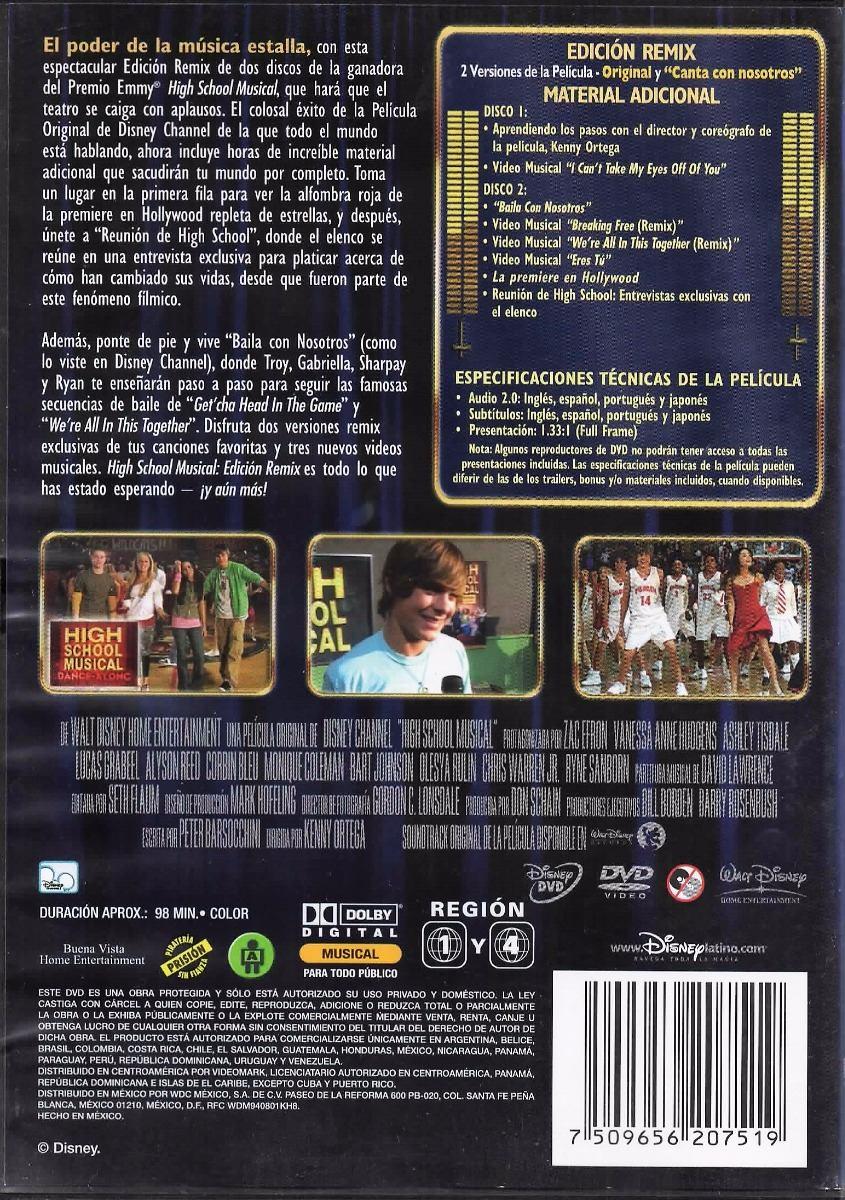High School Musical - Remix - Disney, Ed. Especial, 2 Dvd´s ...